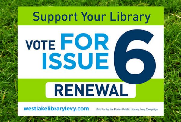 marketing campaigns | westlake porter public library 2018 levy campaign