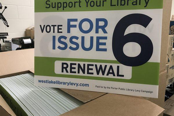 marketing campaigns | Westlake Porter Public Library Levy 2018